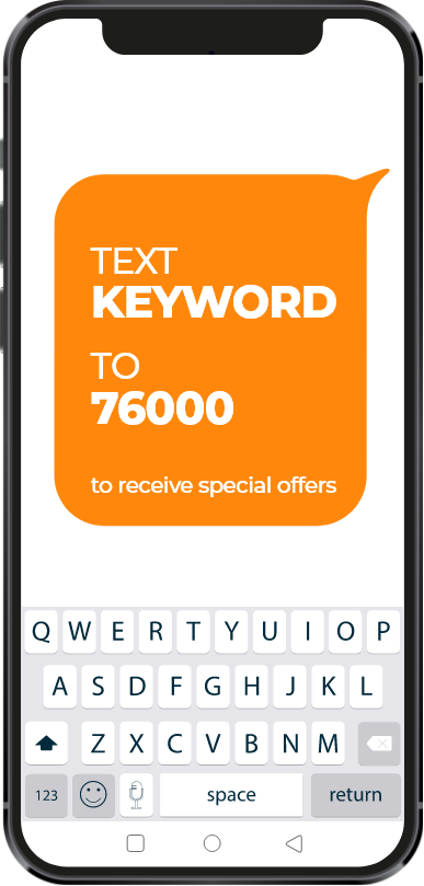 Text Keyword TO 76000 to receive special offers